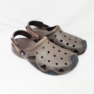 Crocs Brown Waterproof Slip-On Clogs Size 11
